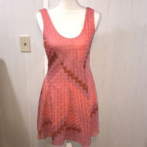 Free People Mesh Pink And Lavender Dress